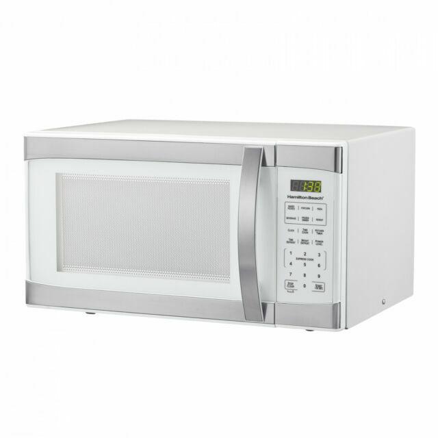 hamilton beach p100n30al wbw 1 1cu ft digital microwave oven white