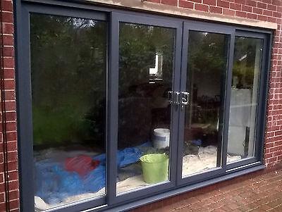 grey upvc 4 pane sliding patio door 3000 3200mm wide 02 ebay