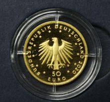 KI69) 50 EURO Gold 1/4 oz Unze 2020 Orchesterhorn (D), mit ECHTHEITSZERTIFIKAT