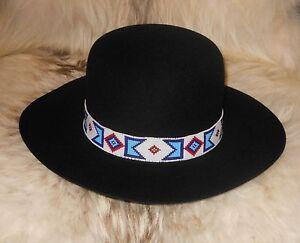 Billy Jack Movie Replica Handloomed Beaded Hatband Agnoulitahats Fur Tiller Hat Ebay