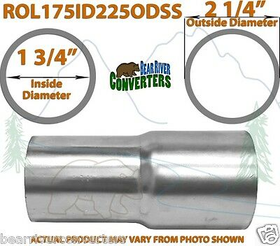 1 3 4 1 75 id x 2 1 4 2 25 od stainless exhaust pipe component adapter reducer ebay