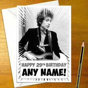 Bob Dylan Personalised Birthday Card A5 Music Folk Ebay