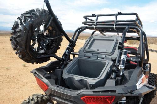 atv side by side utv body frame new rear spare tire mounting rack holder carrier fits 2014 19 polaris rzr 1000 other atv side by side utv body frame