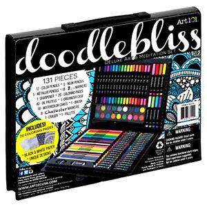 Art 101 Doodlebliss Deluxe Art and Meditation Set 131 Piece NIB