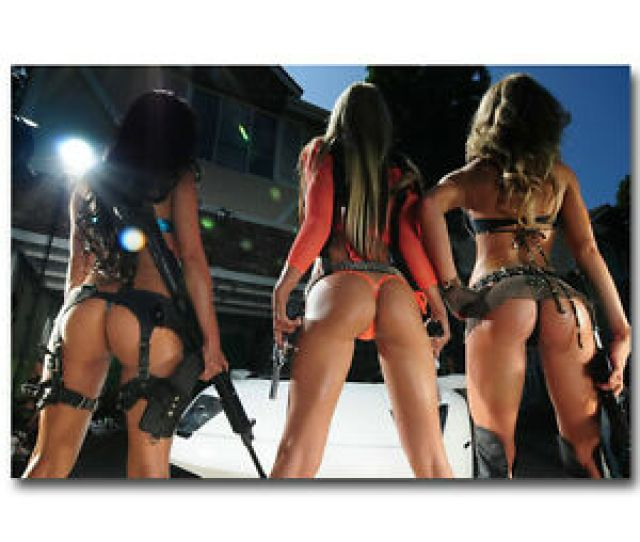 Image Is Loading Hot Models With Gun Sexy Girls Ass Military