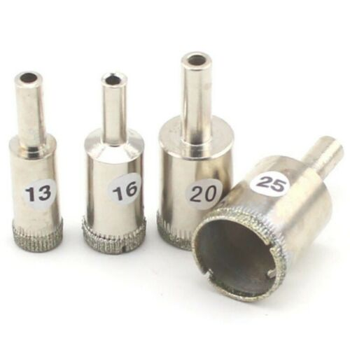 drill bits 4pcs 1 2 5 8 3 4 1 inch set diamond hole saw coated drill bits glass stone tile home garden