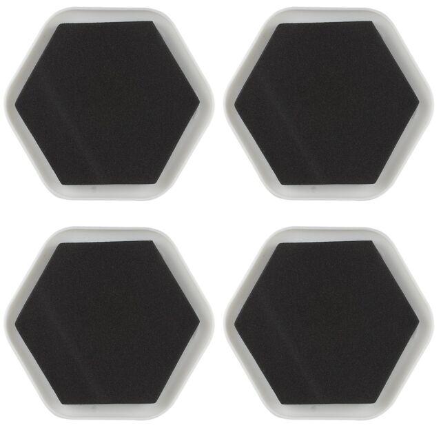4pk furniture sliders magic mover pad floor protectors carpet wood tile