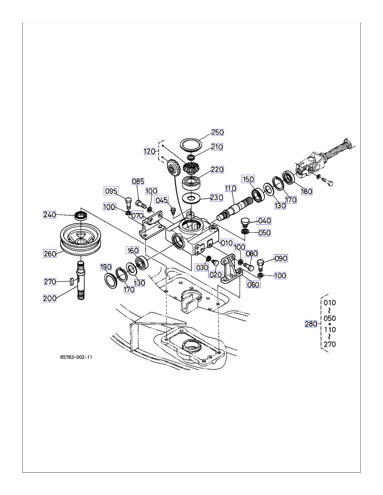 Kubotum Zd21 Part Diagram