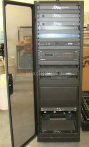 details about middle atlantic server rack cabinet w audio video equipment cables and adapters