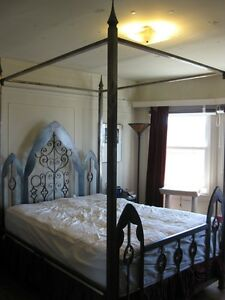 Gothic Metal Four Poster Bed Frame
