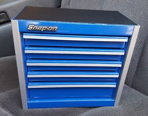 Snap On Tool Box Miniature Staionary Cabinet In ROYAL BLUE NIB EBay