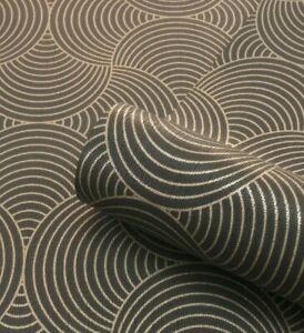 details sur belgravia art deco motifs geometriques cercle dore metallise noir texture papier peint 9001 afficher le titre d origine