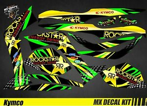 details about kit deco quad for atv decal kit for kymco maxxer rockstar