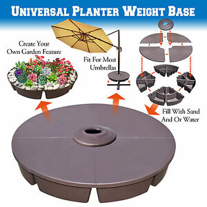 details about outdoor patio umbrella stand deck parasol sand weight universal planter base