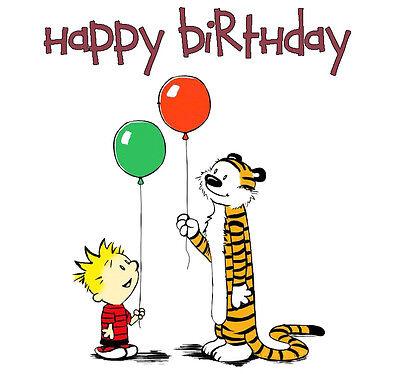 Calvin And Hobbes 60 8 X 10 T Shirt Iron On Transfer Happy Birthday Ebay