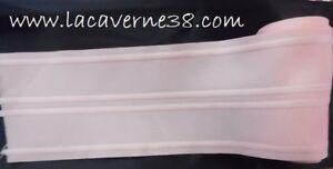details sur 3 38m ruban galon fronceur ruflette sans crochet rose 100mm 10cm couture merceri