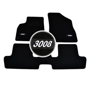 details sur 4 tapis sol peugeot 3008 1 6 hdi thp vti 2 0 hdi moquette logo blanc specifique