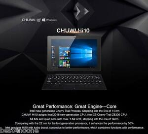 "10.1"" Chuwi Hi10 Win 10 + Android 5.1 Ultrabook Tablet PC Z8300 4G+64G WiFi HDMI"