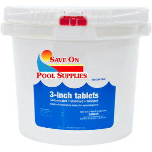 3 Inch 99% Trichloro Sanitizer Swimming Pool Chlorine Tablets 25 lbs
