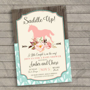 Saddle Up Baby Shower Invitations