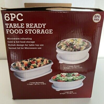good cook 10229 6 piece table ready food storage