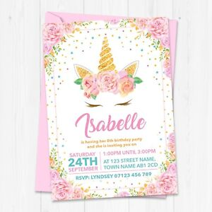 details about personalised unicorn birthday party invitations unicorn birthday invites