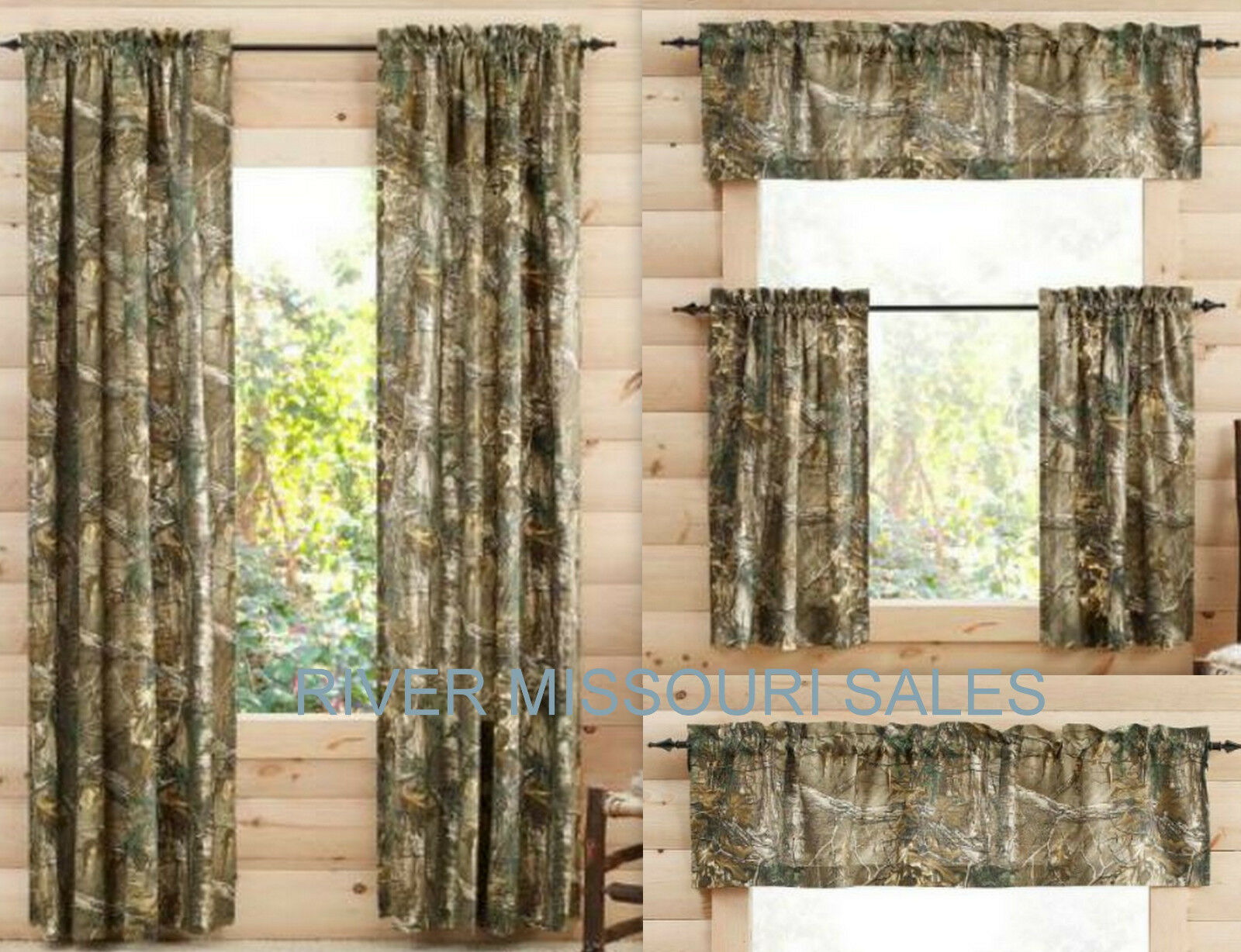 Realtree Xtra Camo Curtain Panels Tiers Sets Of 2 And Or