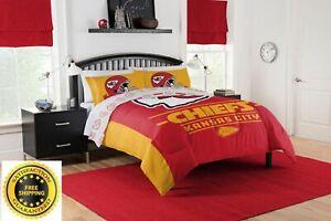details about usa full queen comforter set fan nfl kansas city chiefs bedding football blanket