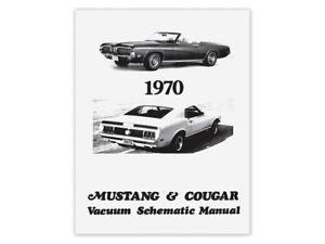 New 1970 Mustang Vacuum Schematic Manual Diagram Boss Mach