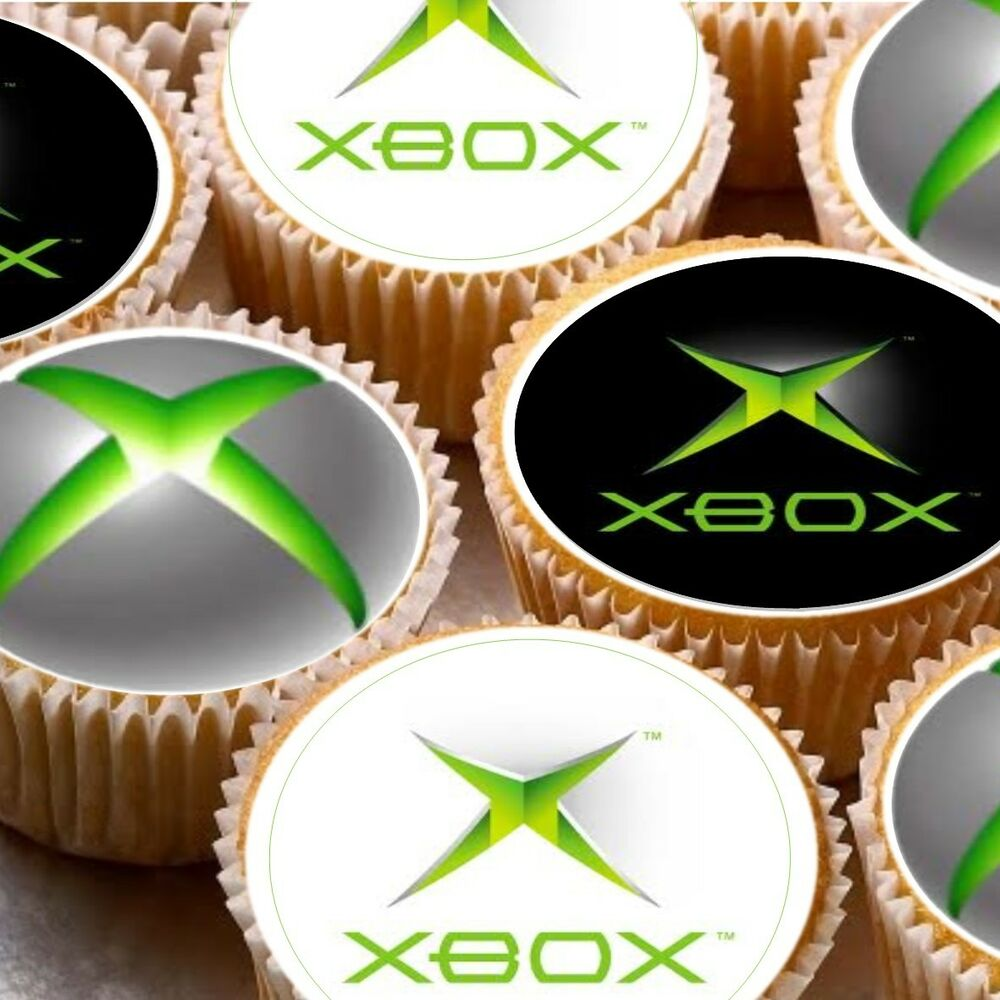 24 Icing Cake Toppers Decorations X Box Xbox Logo EBay