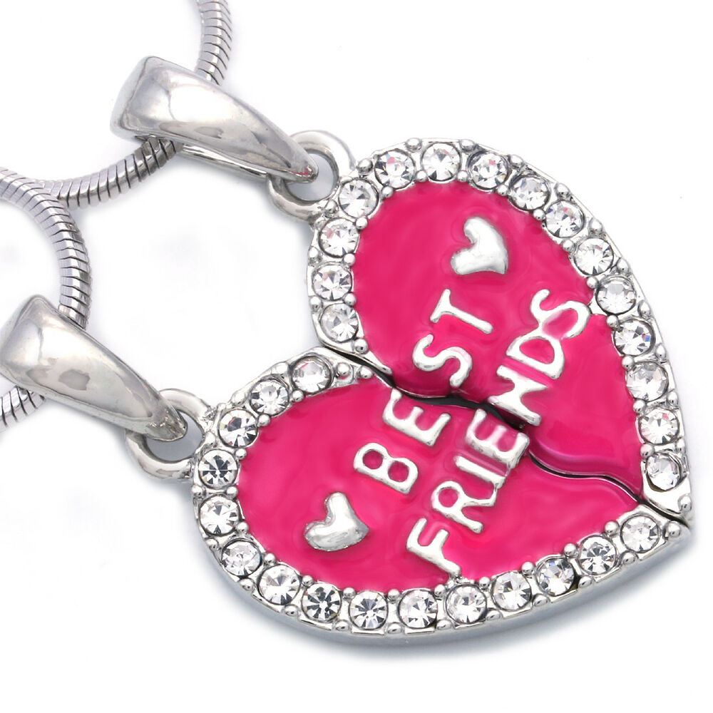 Necklace Valentines Day Hot Pink Love Heart Pendant BFF