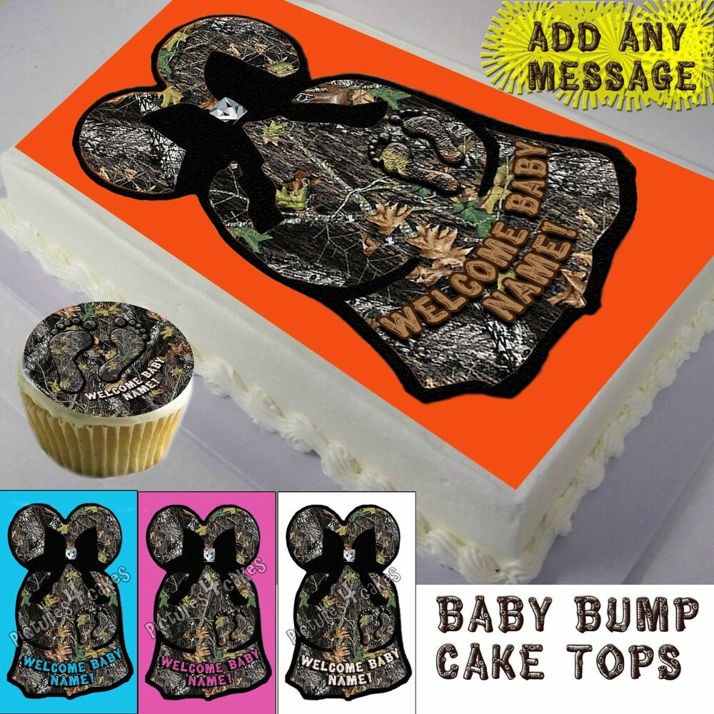 Camouflage Cakes Baby Shower