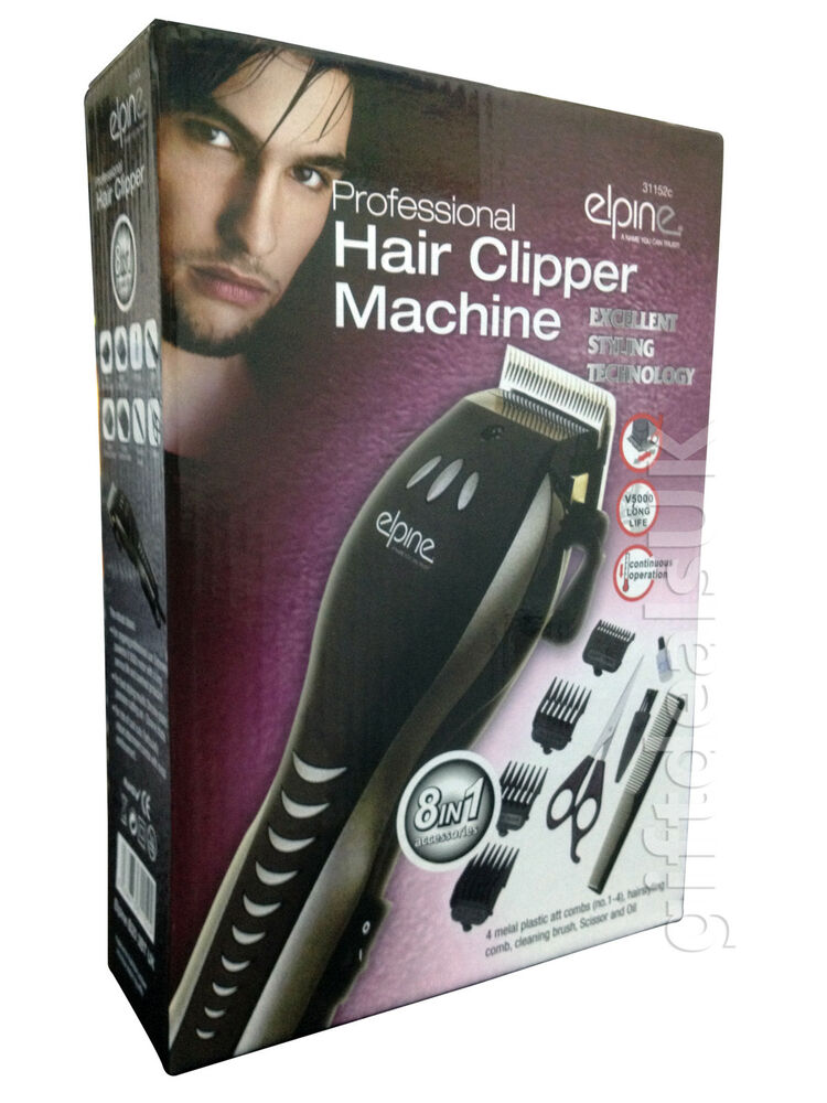 MENS ELECTRIC HAIR CUTTING CLIPPER TRIMMER SHAVER SET