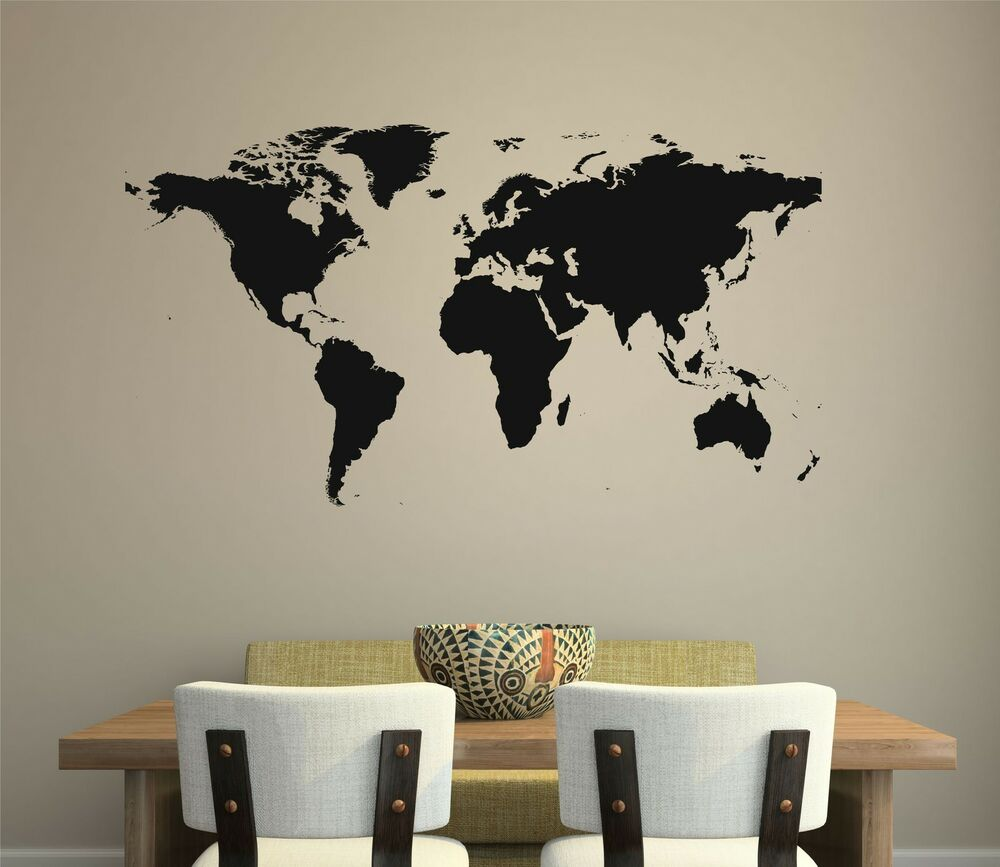 World Map Wall Decal Removable Sticker Home Decor Mural Room Art Global Globe EBay
