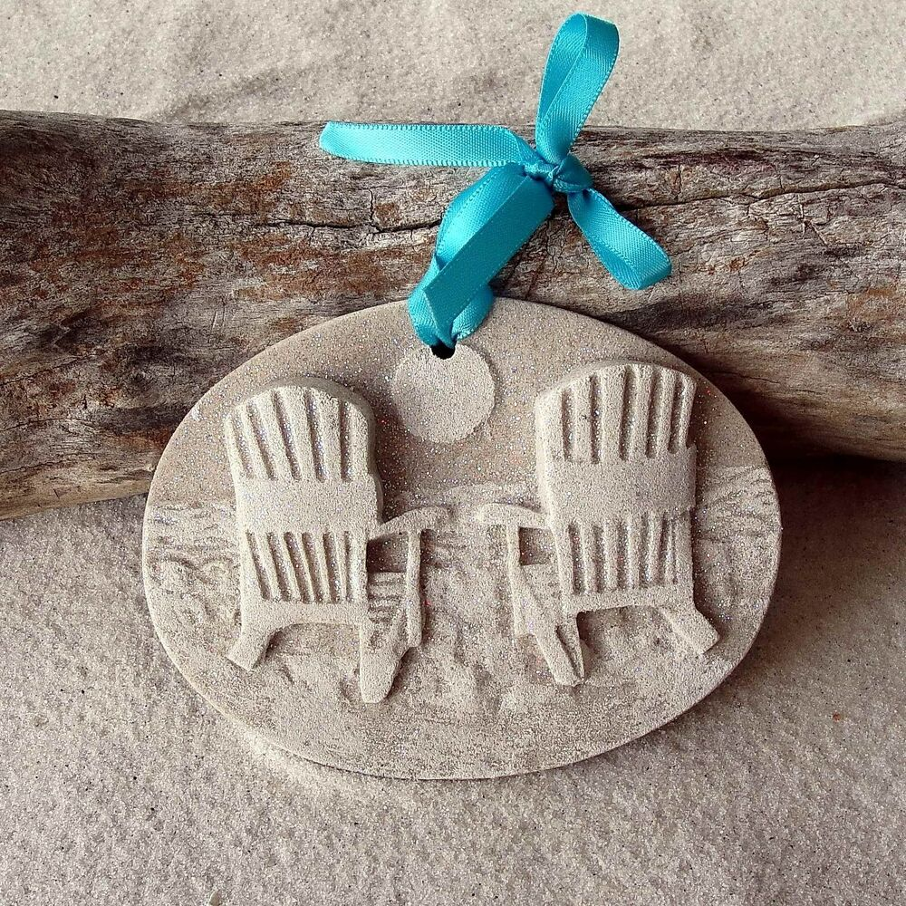 BEACH CHAIRS Made With Sand Tropical Beach Ornament EBay