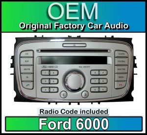 Ford 6000 CD player, Silver Ford Focus car stereo headunit