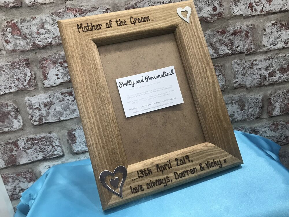 Personalised Photo Frame Wedding Thank You Gift Mother
