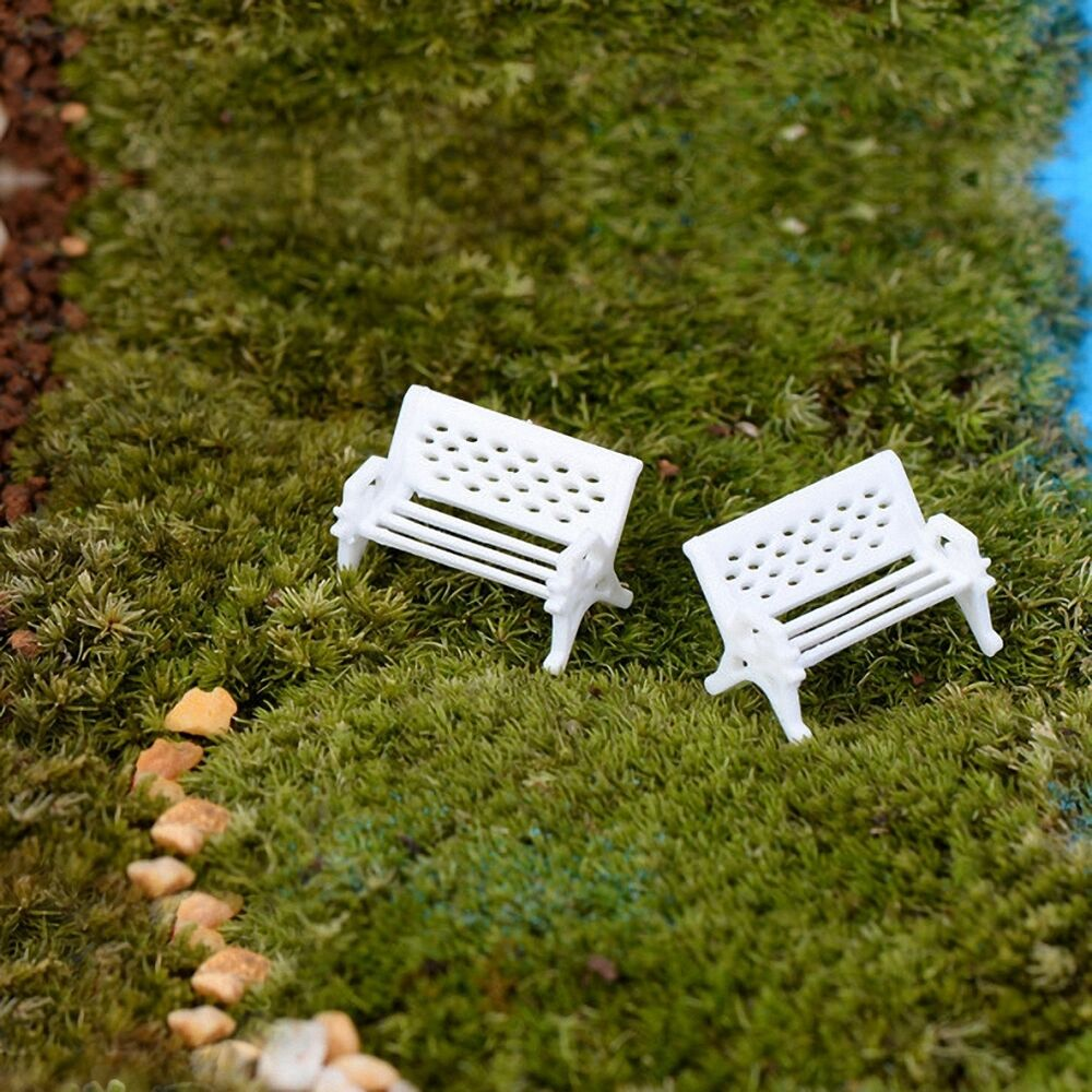 White Benches Outdoor