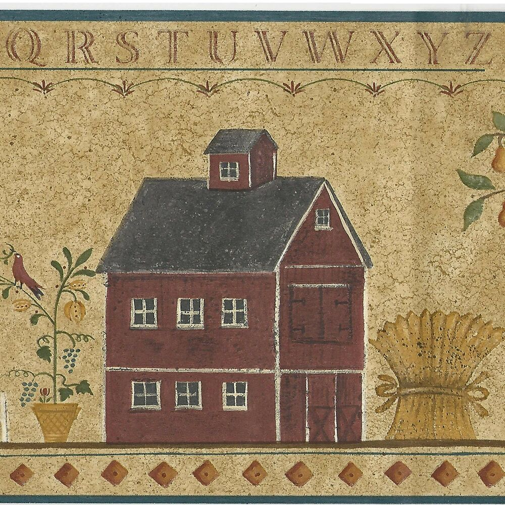 Country Folk Art ABC Stencil Colonial House ONLY 8