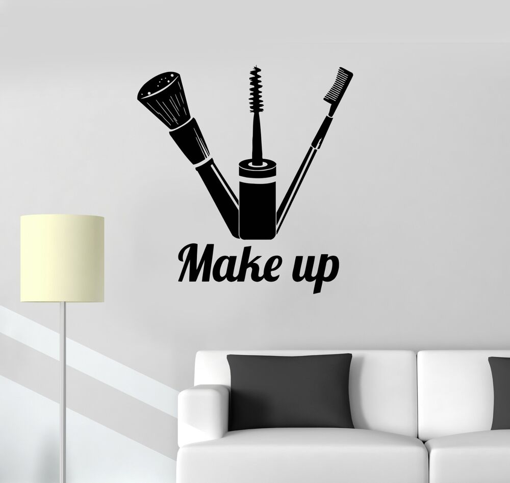 Vinyl Decal Make Up Cosmetics Beauty Salon Girl Room Art Wall Stickers Ig3432 EBay