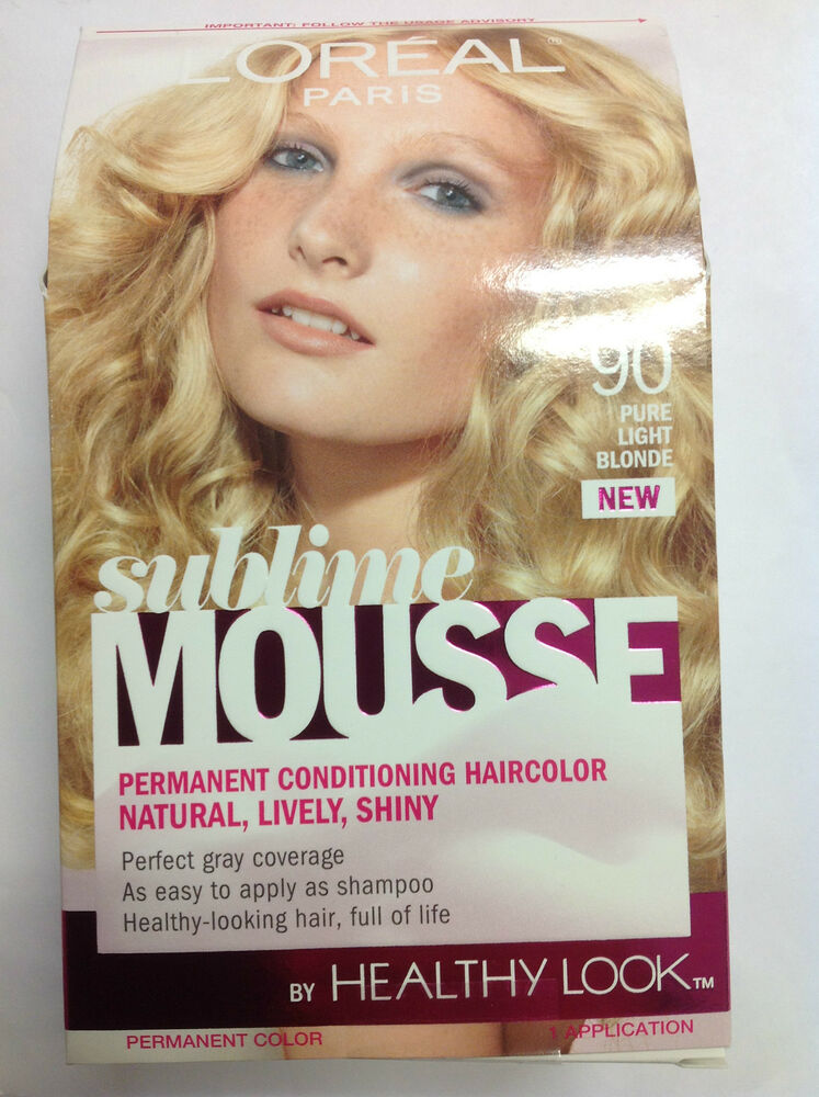 LOreal Sublime Mousse By Healthy Look Hair Color PURE