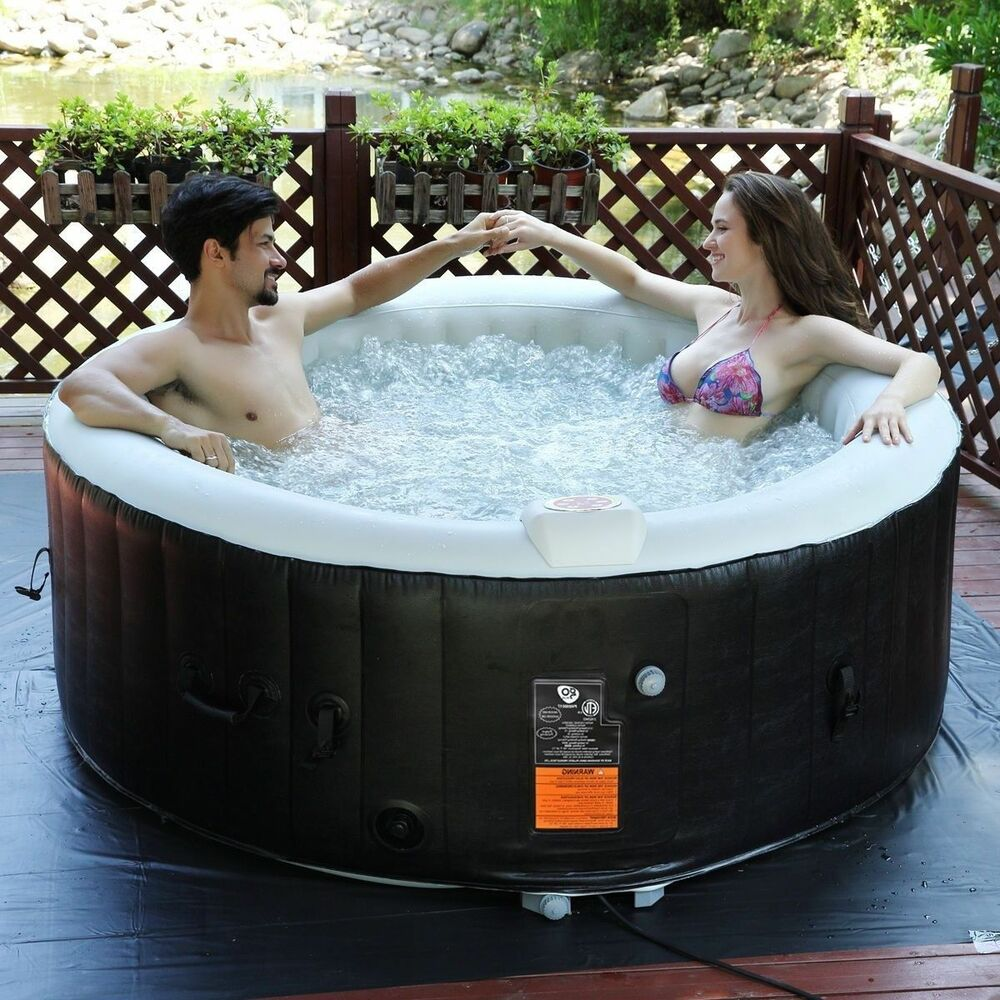 Inflatable Hot Tub Portable Spa 4 Person Bubble Jets