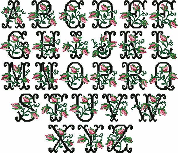 ABC Designs Old Fashioned Charm Machine Embroidery Font In
