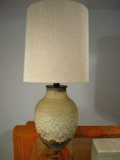 Big Vintage Danish Modern Ceramic Table Lamp Eames Era Ebay