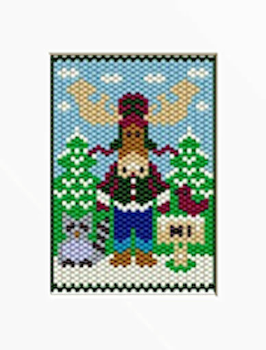 GIANT MOOSE WELCOME BEADED BANNER PDF PATTERN ONLY EBay