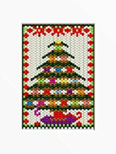THREAD SPOOL CHRISTMAS TREE BEADED BANNER PDF PATTERN ONLY