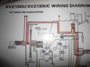 Yamaha OEM Factory Color Wiring Diagram Schematic 1988