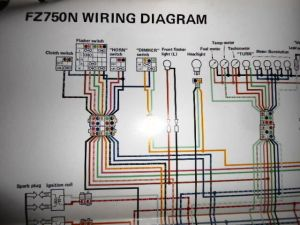 Yamaha OEM Factory Color Wiring Diagram Schematic 1985