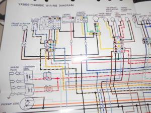 Yamaha OEM Factory Color Wiring Diagram Schematic 1986 YX600S YX600 S SC | eBay