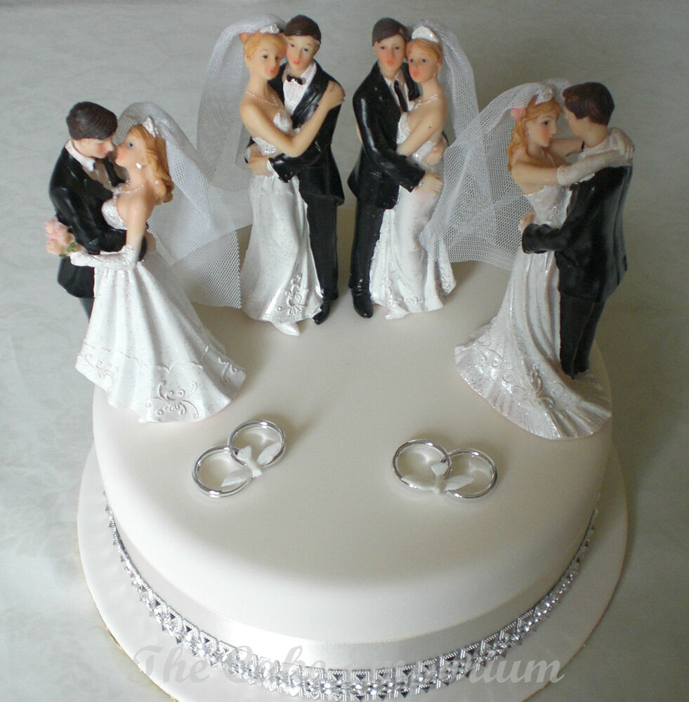 Groom Bride Toppers Traditional Cake And Wedding